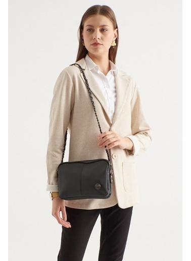 TH Bags TH Bags Fermuarlı Askılı Kadın Omuz Çantası Siyah